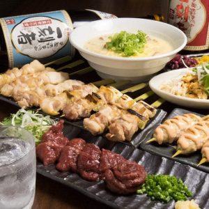 鶴見の居酒屋「とりいちず」で馬刺しと焼鳥を満喫する宴会