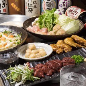 とりいちず酒場 鶴見東口店の鶏料理もお酒もしっかり楽しめるコース
